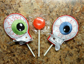 In The Hoop Eyeball Lollipop Holder Embroidery Machine Design Set