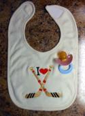 I heart hockey Embroidery Machine Design