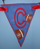IN The Hoop Triangle Football Banner embroidery machine Design