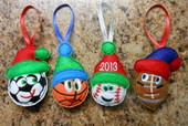 In The Hoop Christmas Sports Ball Embroidery Machine Design Set