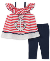 Anchor-Print Tunic & Leggings Set