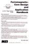 Ferromagnetic Core Design & Application Handbook - Back