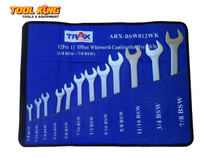 SPANNER SET WHITWORTH 12pc Trax