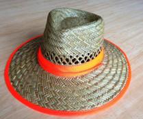 STRAW HAT tradesmans hat