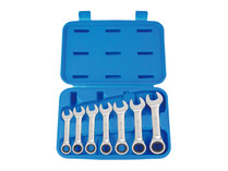 Ratchet spanner set Stubby 7pc KING TONY