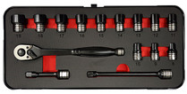 "15pc 3/8""Drive Impact socket set Thin wall"