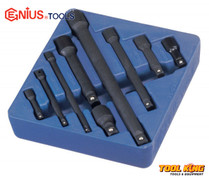 9pc Socket extension bar set IMPACT  Genius