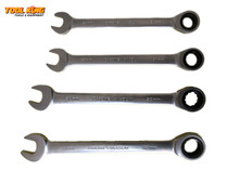 4pc Ratchet Spanner set Large sizes 24 to 32mm CRV