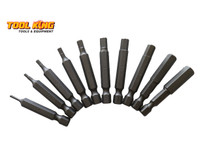 DRIVER BIT SET HEX 10pc metric