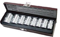 SOCKET SET WHITWORTH 8 piece Eurotech