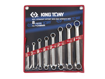SPANNER SET DOUBLE RING 8pc  king Tony metric