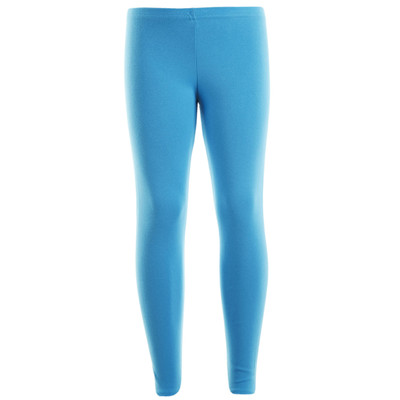 Girls Leotard Legging Cotton Stretch Full Length School Leggings Kids Stretch Leggings Turquoise Size 2-13