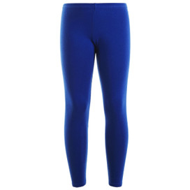 Girls Leotard Legging Cotton Stretch Full Length School Leggings Kids Stretch Leggings Royal Size 2-13