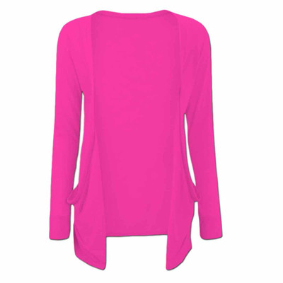 Long Sleeve Young Girls Cardigan - Cerise