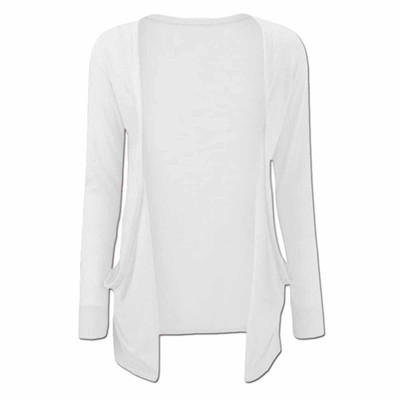 Girls Plain Colour Long Sleeve Cardigan
