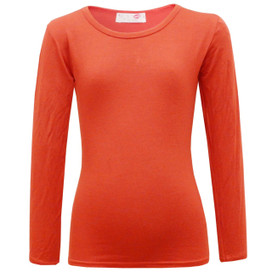 Minx Girls Plain Full Sleeve Top Red 2-6 Years