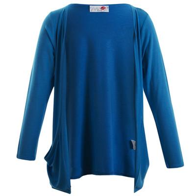 Minx Girls Long Sleeve Boyfriend Cardigan Turquoise 7-13 Years