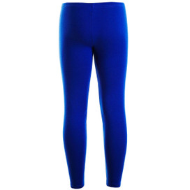 Girls Plain Color Cotton Leggings Royal Blue 2-6 Years
