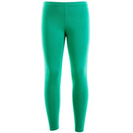 Girls Plain Color Cotton Leggings Green 2-6 Years