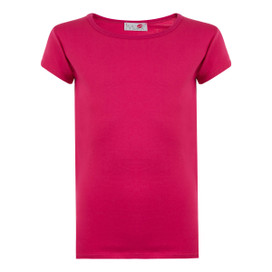 Minx Girls Plain Colour Short Sleeve Top Cerise 2-6 Years