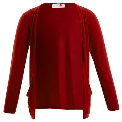 Minx Girls Long Sleeve Boyfriend Cardigan Red 7-13 Years