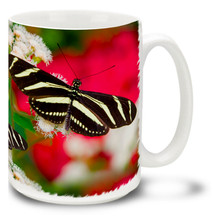 Zebra Longwing Butterfly - 15 oz Mug