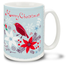 Have an old-fashioned Yuletide with this Christmas Traditions Retro Cardinal mug! Fifties styling and bright colors on this 15 oz Retro Cardinal Christmas Mug will make this durable, dishwasher and microwave safe coffee cup a welcome gift for the holidays!