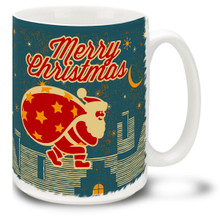 Go back to a simpler time with this vintage-styled Christmas Funky Santa Woodcut mug! Simple shapes, bright colors and a traditional Merry Christmas message make this 15 oz Christmas Santa Woodcut Mug a favorite. Durable, dishwasher and microwave safe coffee cup makes a welcome gift for the holidays!