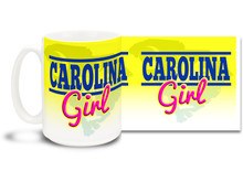 South Carolina Girls are as beautiful as the state they live in so have a delicious cup of coffee in this Carolina Girl mug! 15 oz coffee Mug is  dishwasher and microwave safe.