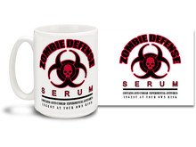 Preparing for a Zombie Apocalypse? This awesome mug is essential survival gear!  15oz coffee mug is durable, dishwasher and microwave safe.