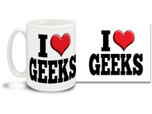 Proclaim your love for everything geeky with this super geeky coffee mug!  15oz coffee mug is durable, dishwasher and microwave safe.