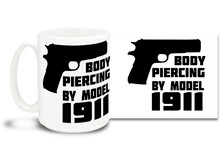 Let'em how you feel about firearms with this awesome coffee mug!  15oz coffee mug is durable, dishwasher and microwave safe.