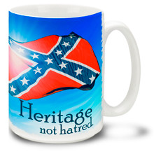 Confederate Rebel Flag Heritage Coffee Mug - 15oz. Mug