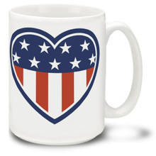 Heart of America United States Flag  - 15oz Mug