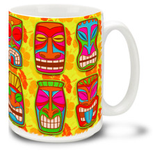 Retro Surf Tiki Gods - 15 oz. Mug
