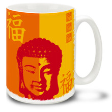 Buddha Happiness Symbol  - 15oz Mug