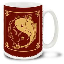 Yin Yang Koi - 15oz Mug