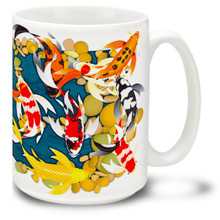 Zen Koi Full Wrap - 15oz Mug