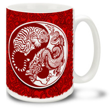 Yin Yang Tiger and Dragon - 15oz Mug