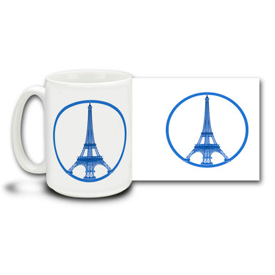 In the face of terror and adversity, Paris celebrates music, love, life, champagne and joy! Live unafraid and free with a Paris peace mug in blue. 15 oz mug is dishwasher and microwave safe. #parisisaboutlife #PrayForParis #Paris #JeSuisParis