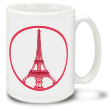 Paris Peace Pink - 15 oz Coffee Mug