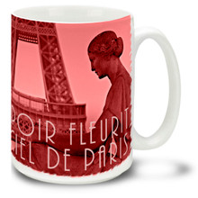 Paris Rose Hope Blossoms - 15 oz Coffee Mug