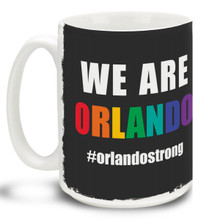 Show your support for the freedoms that have made this country great and let them know we're all one and we're ALL Orlando with this 15 oz We Are Orlando Coffee Mug. Colorful 15oz LGBTQ themed We Are Orlando with Rainbow Letters mug in support of the Orlando shooting victims is dishwasher and microwave safe. #weareorlando