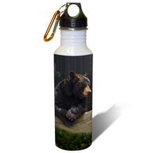 Loggin' On Black Bear - 22oz. Stainless Steel Water Bottle