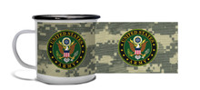 Army Crest on ACU Camo - Metal Camp Mug