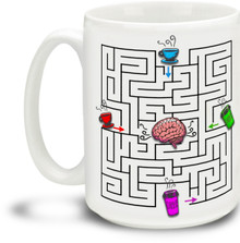 Coffee 2 Brain Maze - 15 ounce Coffee Mug
