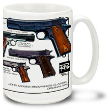 The M1911 is a single-action, semi-automatic pistol. Get your M1911 Mug and show folks you mean business. M1911 Coffee Mug holds 15oz of pipin' hot coffee!