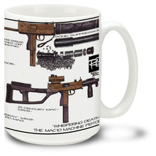 The MAC-10 coffee mug is a great way to enjoy your favorite hot beverage. MAC10 coffee mug features vivid color images. Get a MAC-10 mug today!