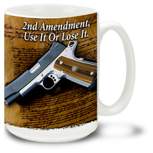 M1911 featuring the Second Amendment - 15oz. Mug