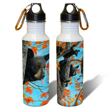 Unwelcomed Guest Black Bears - 22oz. Stainless Steel Water Bottle